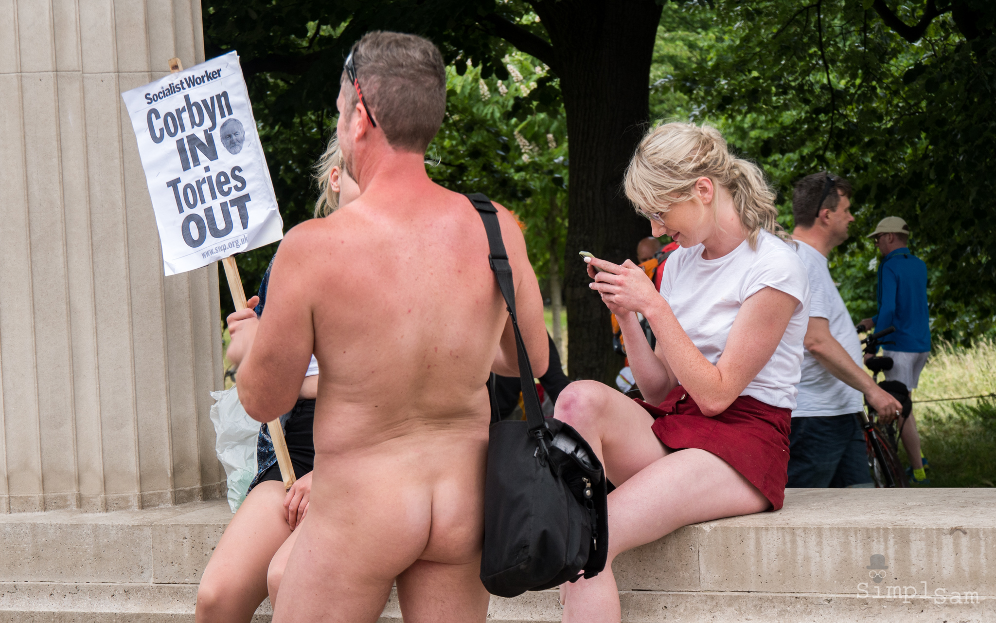 World Naked Bike Ride 2017 - Socialist Worker, Corbyn In / Tories Out