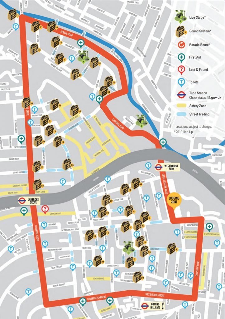 Notting-Hill-Carnival-2019-Guide-Map-Music-SoundSystems-Toilets