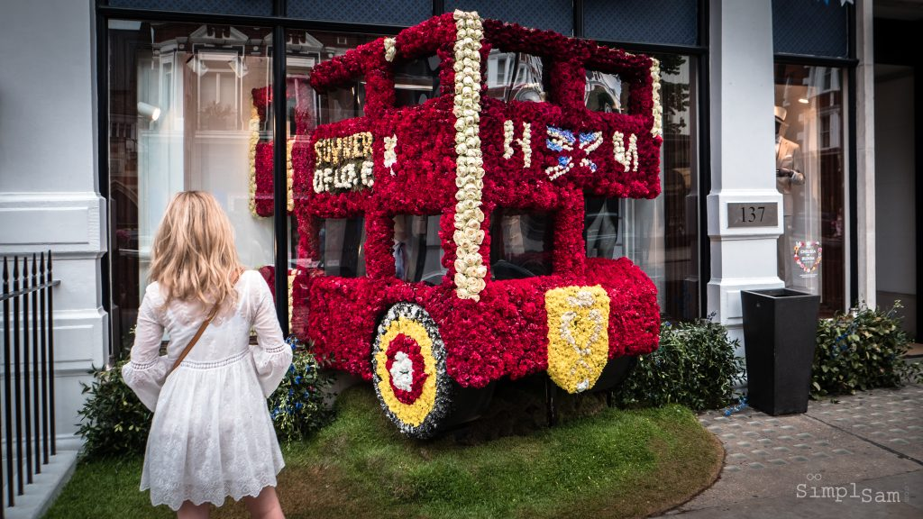 Prince Harry and Meghan Markle's - Royal Wedding Bus (Hackett) - Chelsea in Bloom