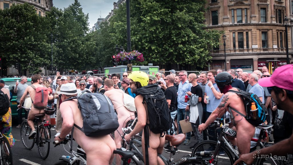 WNBR World London Naked Bike Ride 2018 - Larger Lads