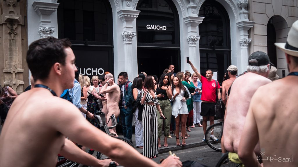 WNBR World London Naked Bike Ride 2018 - Gaucho Girls