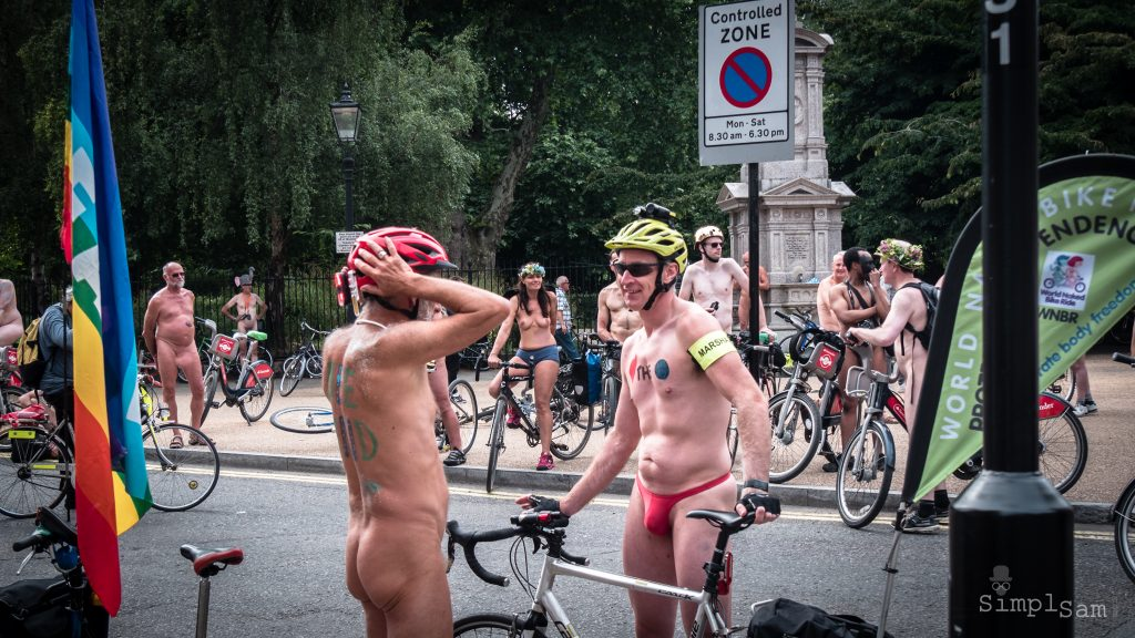 WNBR World London Naked Bike Ride 2018 - Red or Dead